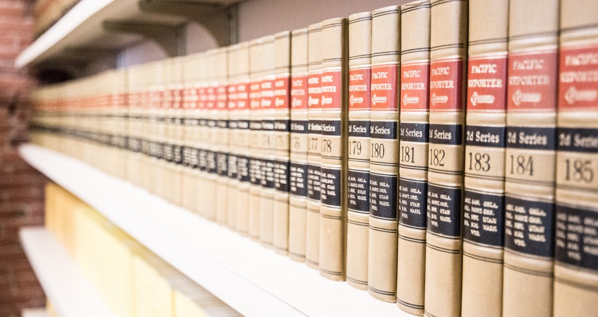 A long row of law books